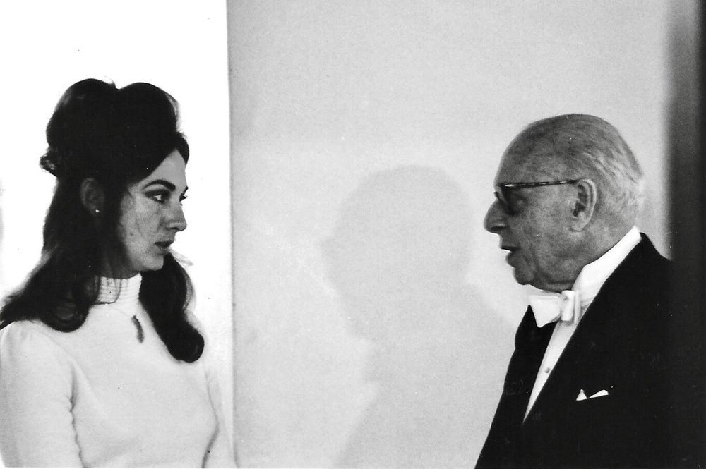 Japan 1970 - Sara Larkin and George Szell; Conductor of The Cleveland Orchestra
