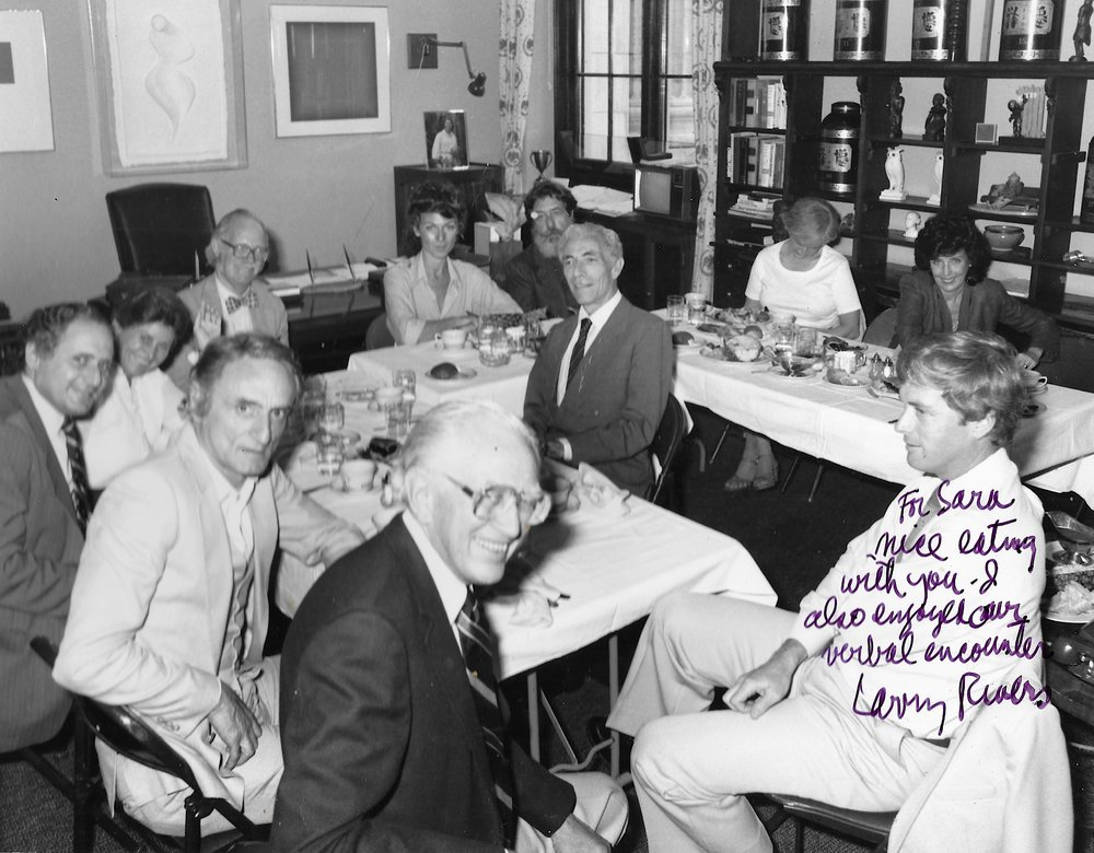 Senators For The Arts - Capitol Hill - June 10th, 1982Counter Clockwise from the Center; Sara Larkin, Livingston Biddle, Mrs. Olga Hirshhorn,  Larry Rivers, Sen. Howard Metzenbaum, Sen. Claibourne Pell, Arts Lawyer Ira Lowe.