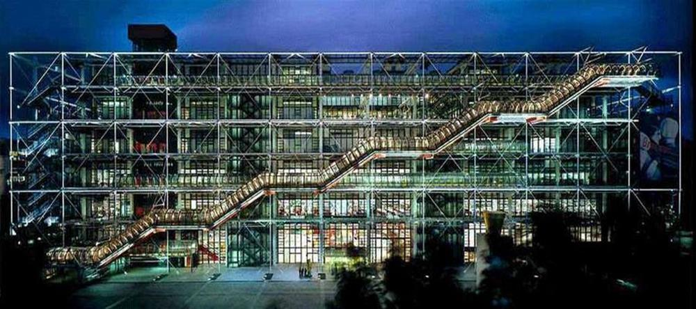 This is the exterior of Paris's Centre Pompidou, one of the more intriguing architectural structures you'll find in France -- maybe even in all of Europe. It houses one of the more important museums of Modern Art in the entire world.