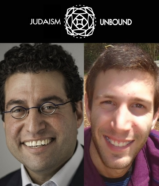 Dan Libenson (left), President of the Institute for the Next Jewish Future, and Lex Rofes (right), Strategic Initiatives Coordinator of the Institute for the Next Jewish Future, co-hosts of the Judaism Unbound podcast