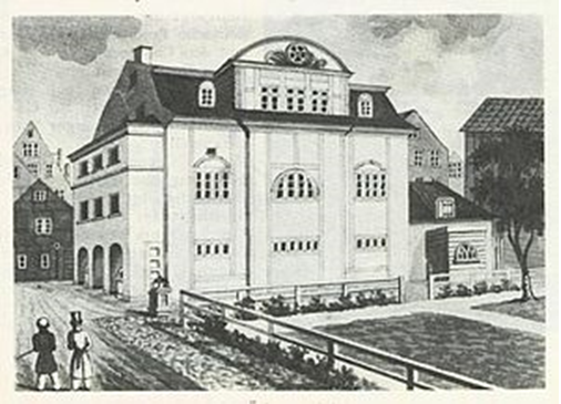 The original edifice of the Hamburg Temple. Image Credit: Uni-hamburg.de