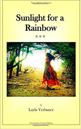 """Sunlight for a Rainbow"" by Layla Verbance about her natural childbirth, available on Amazon"