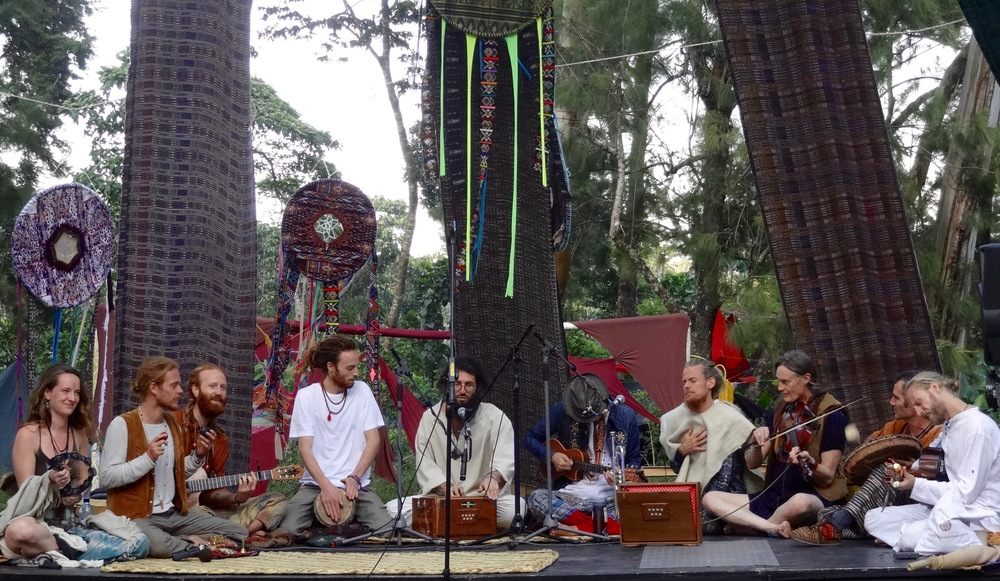Kirtan by and Cacao with Hanuman Project. Photo: Lily Rothrock