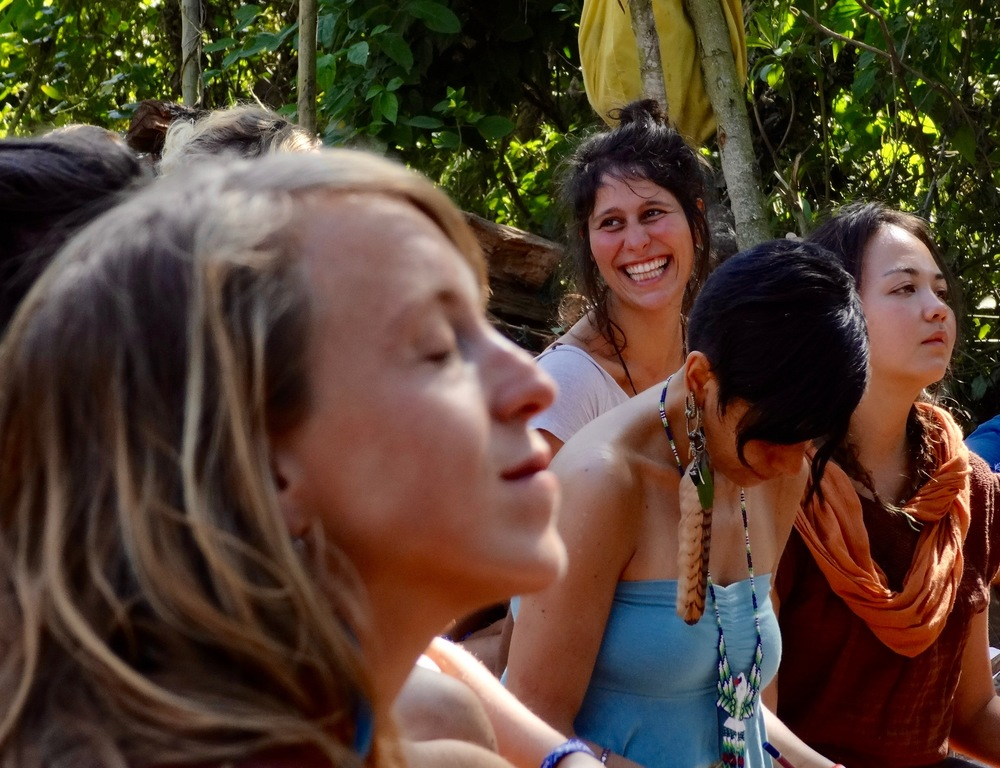 Bliss at Kieth's Cacao Ceremony. Photo: Lily Rothrock