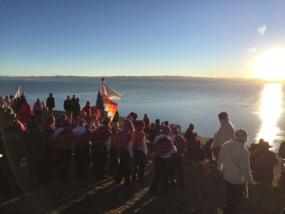 June Solstice Ceremony 2016, Isla del Sol, Lago Titicaca, Bolivia