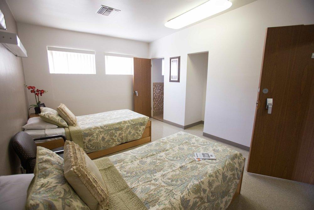 inpatient treatment center patient room