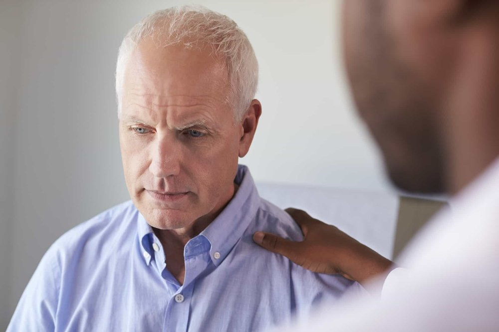 Man seeking outpatient addiction treatment