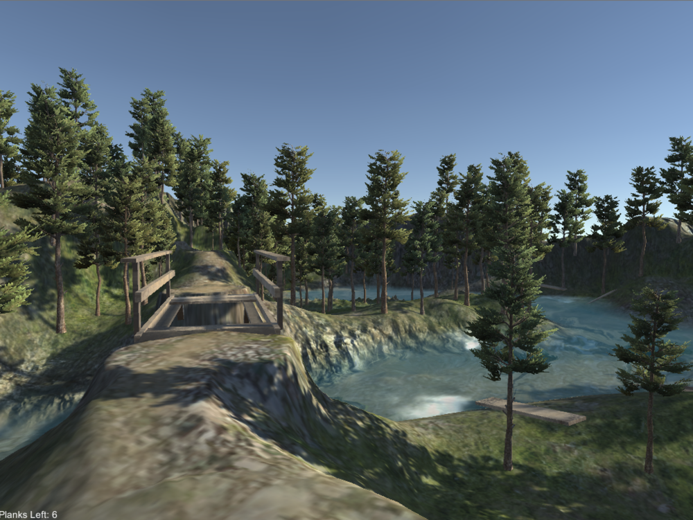 Starting point for the level.    In-game screenshot