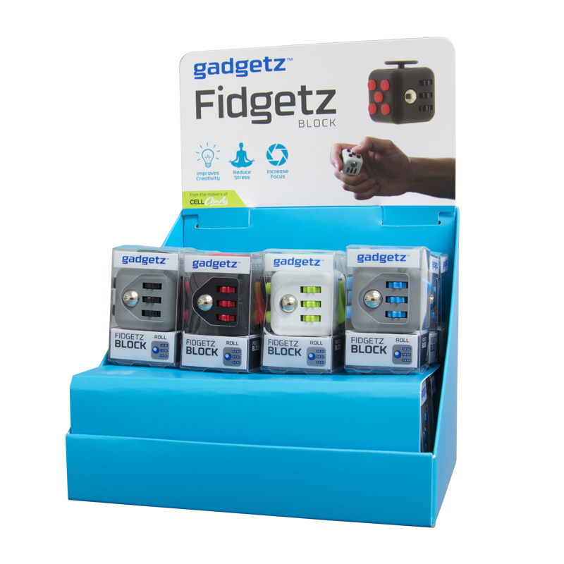 Gadgetz 24 Piece Fidgetz Block Filled Counter Display