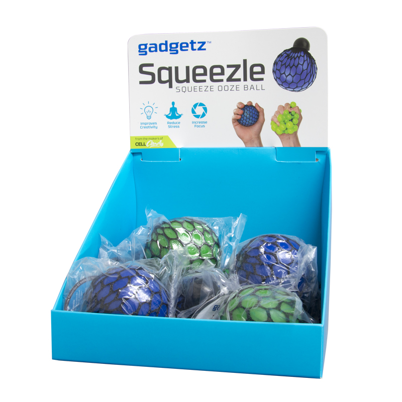 Gadgetz 9 Piece Squeezle Ball Filled Counter Display