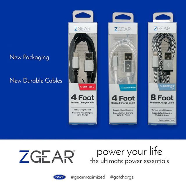 Braided cable = no more tangles. Now in #zgear slim, sleek packaging http://ow.ly/mHJS30fkooq