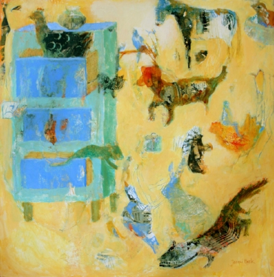 """Getting Along with Strangers 30""""x30"""""""