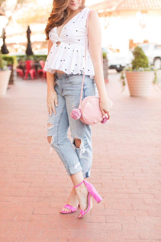 Polka Dots & Pops of Pink // Sarah La Vie