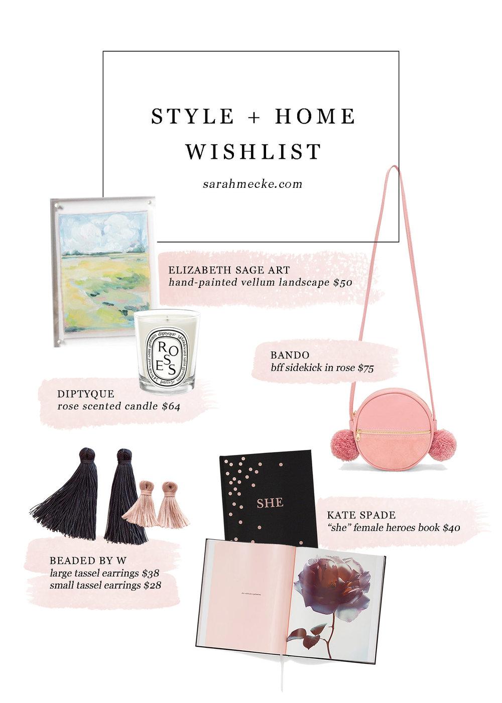 Style + Home Christmas Wishlist // sarahmecke.com