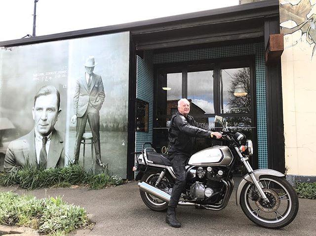 . Dad got his new toy on the road. . #motorcycle #vintagemotorcycle #suzuki #gs1100g #notownrides #wherethefuckisnotown