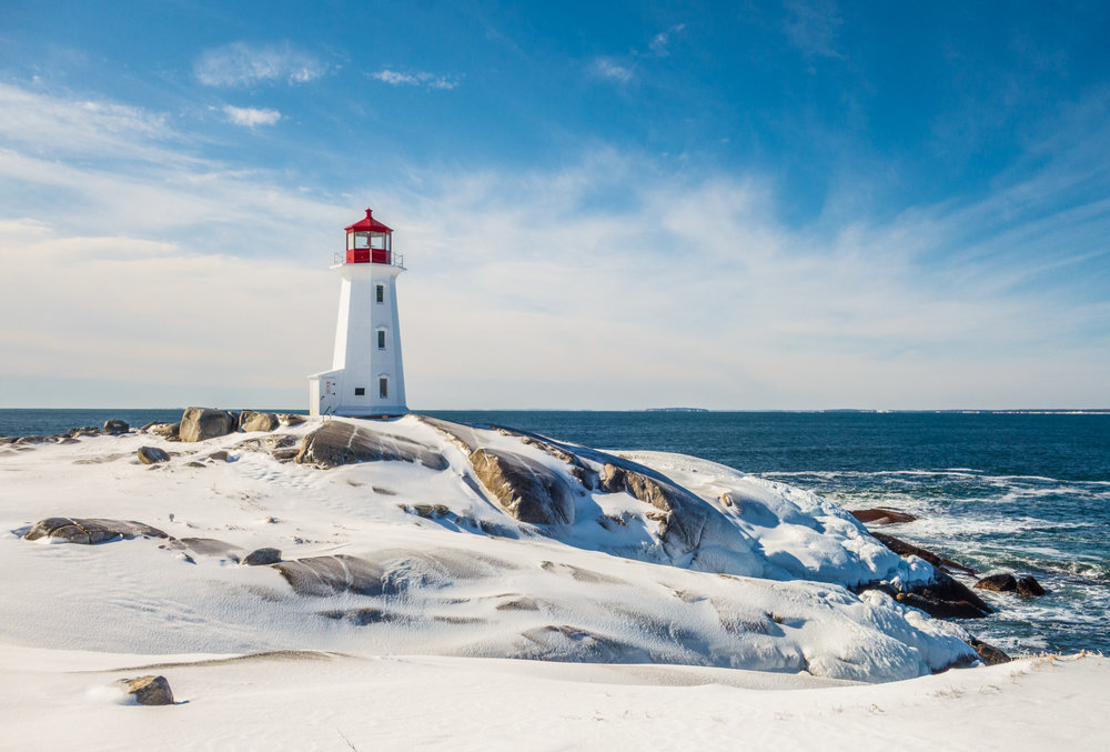 Winter at Peggy's Cove, Nova Scotia