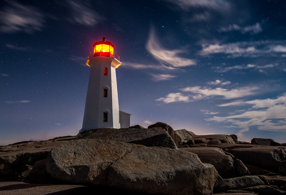 Rule of Thrids - Peggy's cove, Nova Scotia