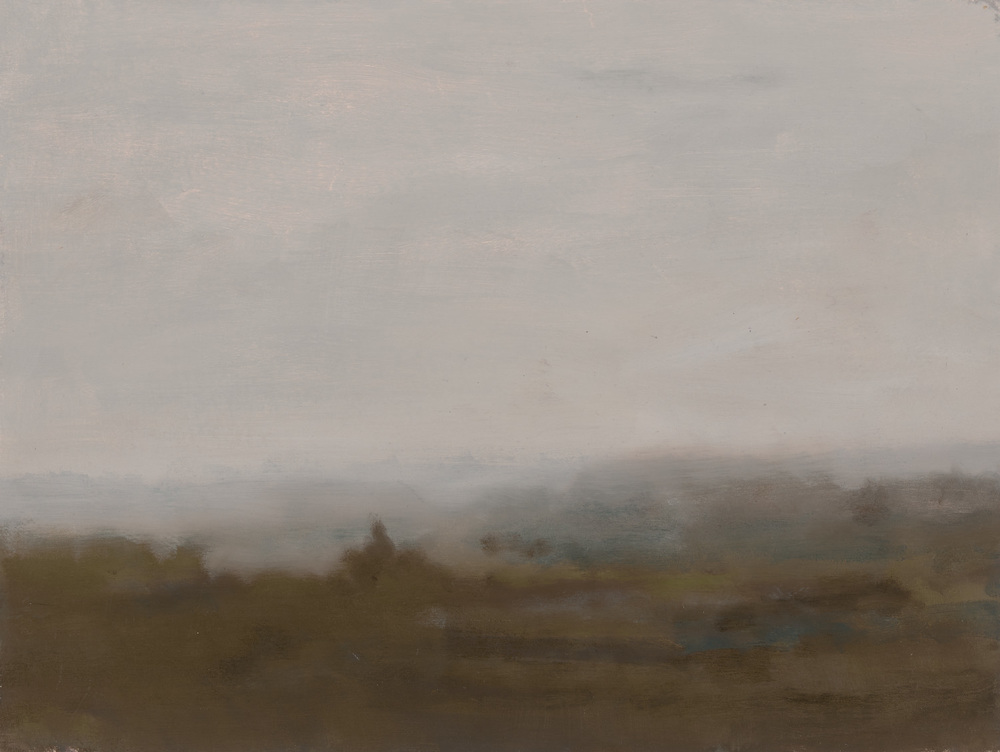 Stagg  2015 oil on matt board 33 x 43 cm framed