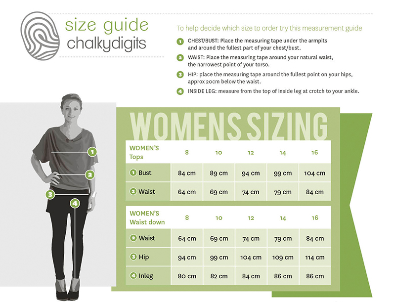 chalkydigits size guide