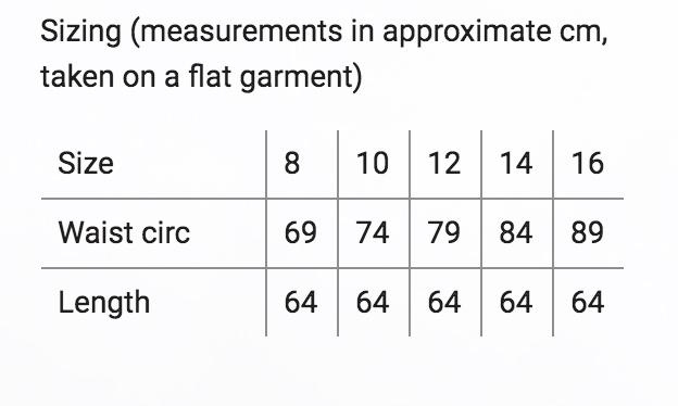 sneak size chart