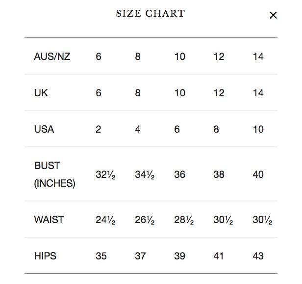 ricochet-size-chart