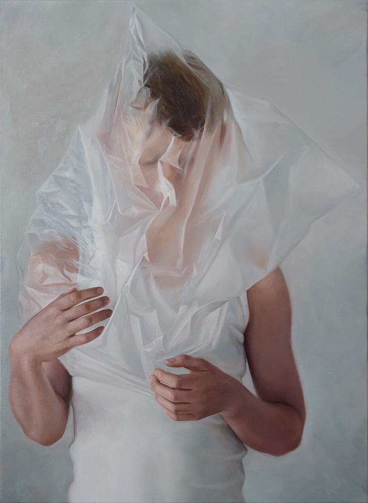 ERIKA GOFTON Sincere Lie . 2017 oil on linen 76 x 56cm