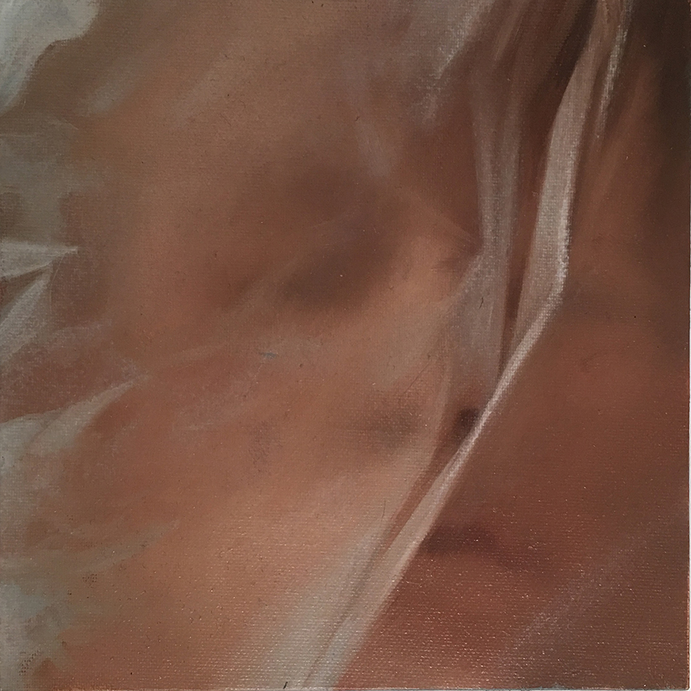 ERIKA GOFTON Exhale 4 . 2017 oil on linen 12 x 12 cm