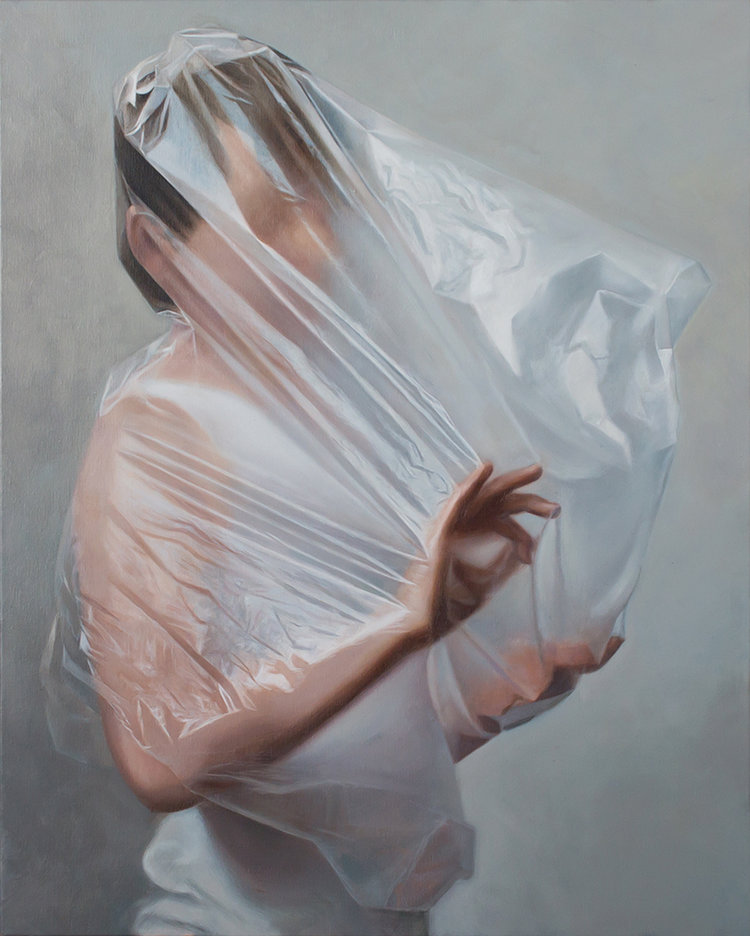 ERIKA GOFTON  Rapid Pulse .  2017 oil on linen 760 x 610 mm
