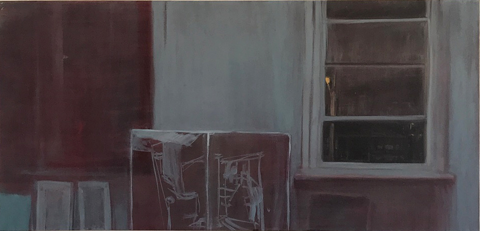 Night on Piper , 2018 oil on linen 61 x 121 cm