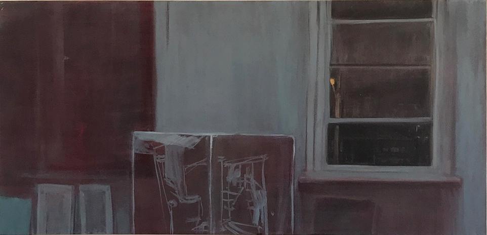 Night on Piper , 2018 oil on linen 61 x 121 cm