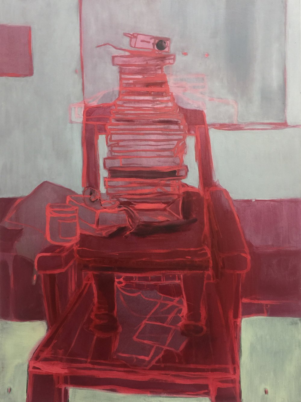 Portrait of a Projector , 2018 oil on wood 61 x 46 cm  SOLD
