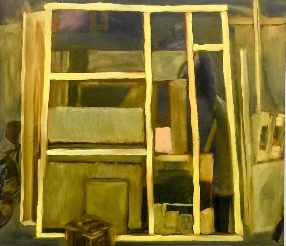 Yellow Studio , 2018 oil on wood 35 x 40 cm  SOLD