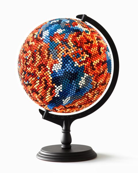 JOANNE MOTT   What the World needs now , 2016 wood, metal, acrylic, map pins (10,000 approx), papier maché, foam. 50 x 30 x 30 cm