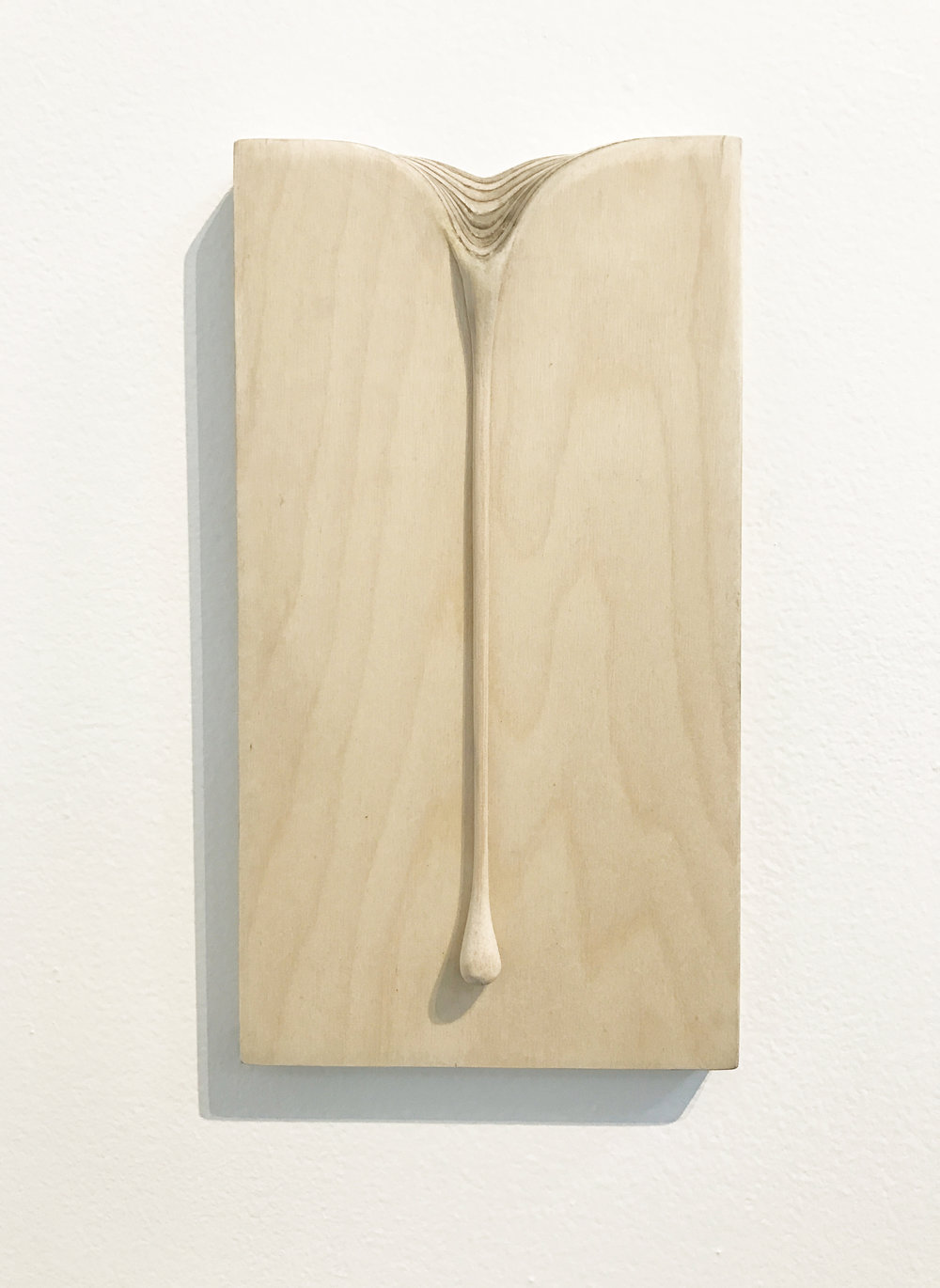 Jason Waterhouse  Driftwood  2017 ply wood and acrylic 22.5 x 13 cm