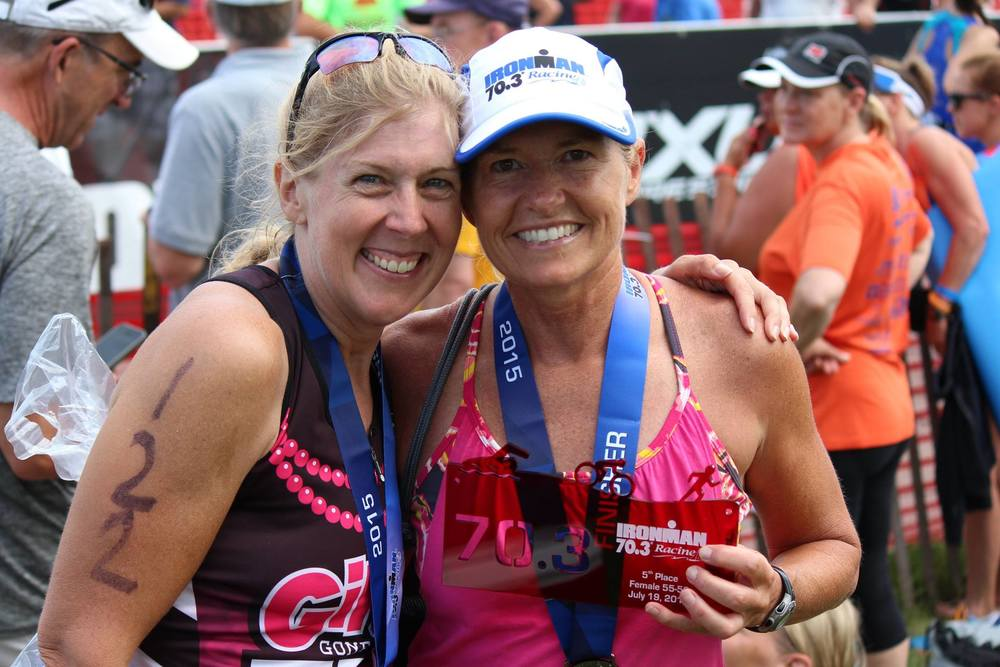 Cheryl Rosentreter is a Ambassador of Girls Gone Tri.  (right)  Cheryl is a lifelong athlete, teacher, and coach.  She brings enthusiasm and dedication to the sport of triathlon, supporting athletes at all levels to be there best.  As a USA Cycling Coach her classes at The Bike Rack are entertaining and difficult in the same breath.  Cheryl recently rocked Ironman Louisville and will be GGTs first Kona bound athlete qualifying for her the prestigious Ironman World Championship in 2016.  Cheryl is a school teacher with over 20 years of experience.  She has one daughter and one son.