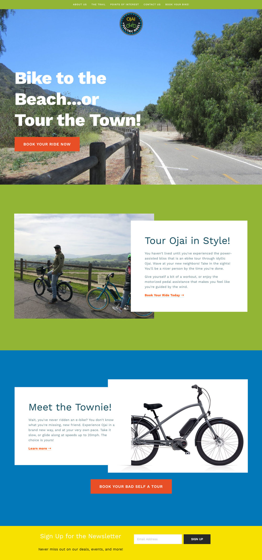 Ojai Electric Bikes (all site copy & design)