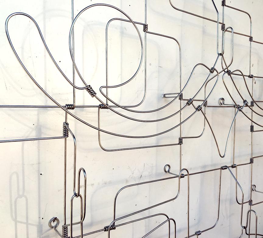 Roger Stevens' bent wire artwork