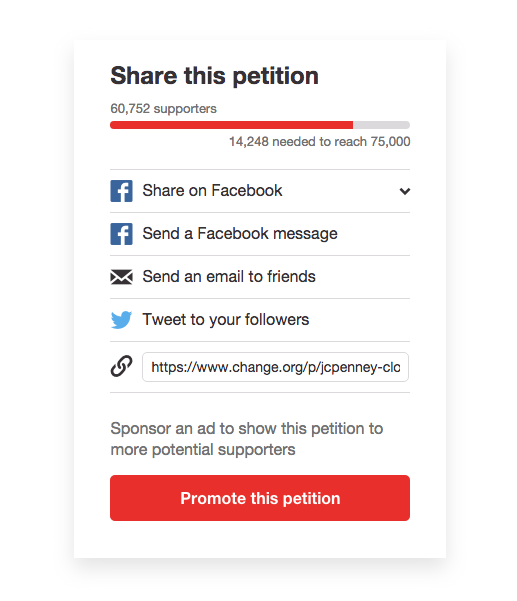 How to promote a petition on Change.org