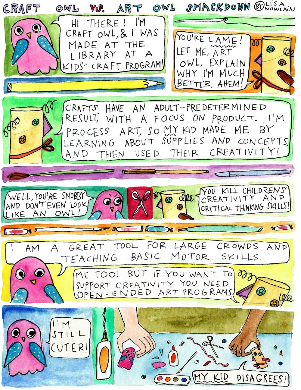 Comic for School Library Journal