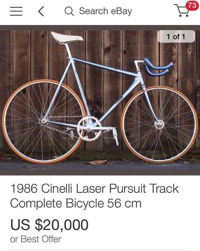 Bout to empty out the change jar  #cinellilaser  #trackbike #fixedgear #holyshittwentygrandisalotofmoneybutthatschillitslit420