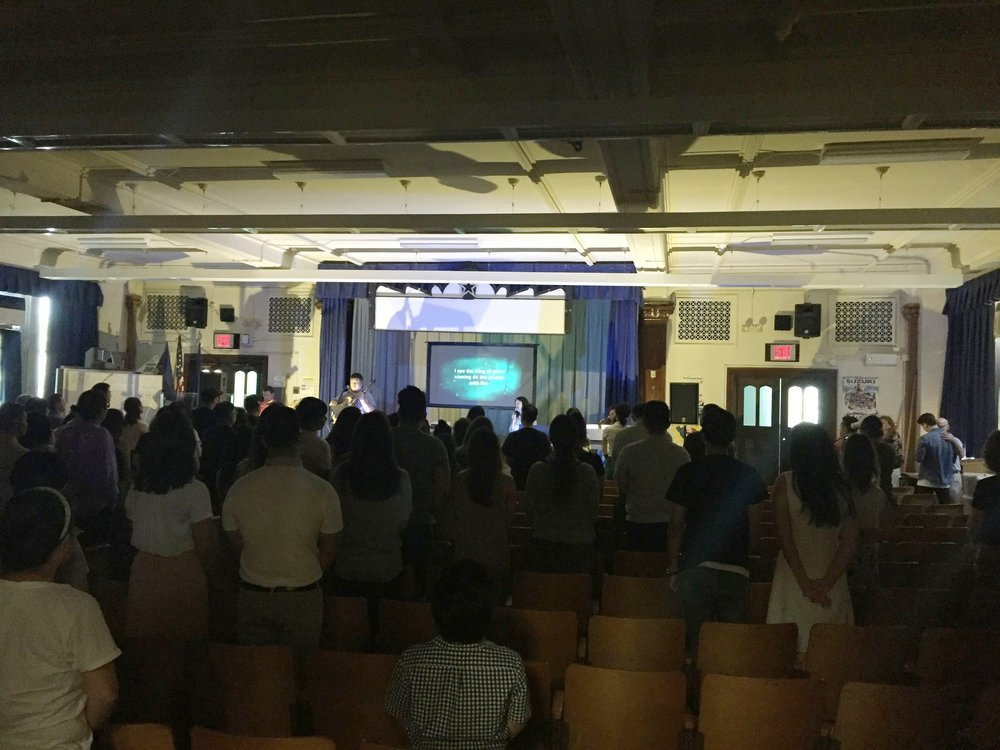 July 2, 2017: First Sunday Service at New Location P.S.41Q