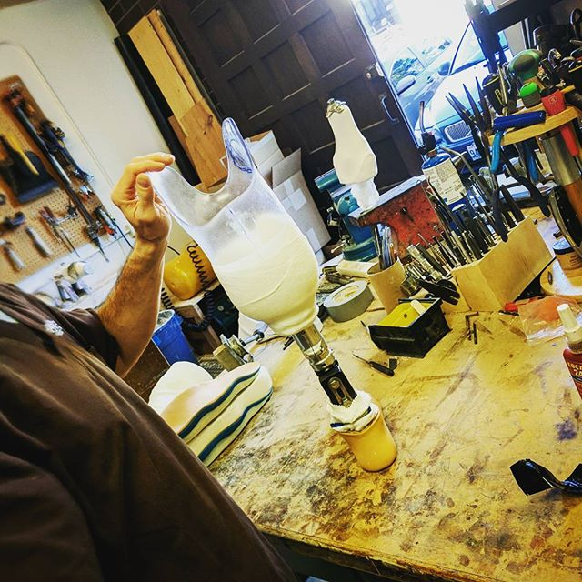 Scroll -----  to see parts of the process and the workshop! Trautmans, plaster, and a rare Donn photo! #seattle #aalseattle #aalimbseattle #americanartificiallimb #prostheticsofinstagram #prosthetics #orthotics #smallbusiness #hashtagaddiction #pacificnorthwest