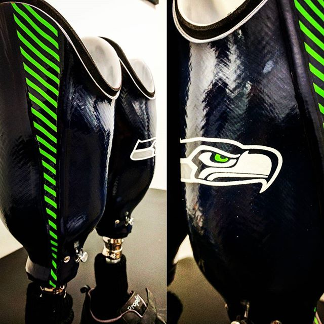 Let's go, Seahawks! . . . #seattleseahawks #seattle #americanartificiallimb #aalseattle #smallbusiness #prosthetics #prostheticleg #washington #pacificnw #pacificnorthwestisbest #oandp