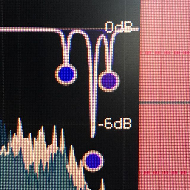 Dealing with slightly overpowering resonances during a session today  #cirrusaudio #resonance #equillibrium #mastering
