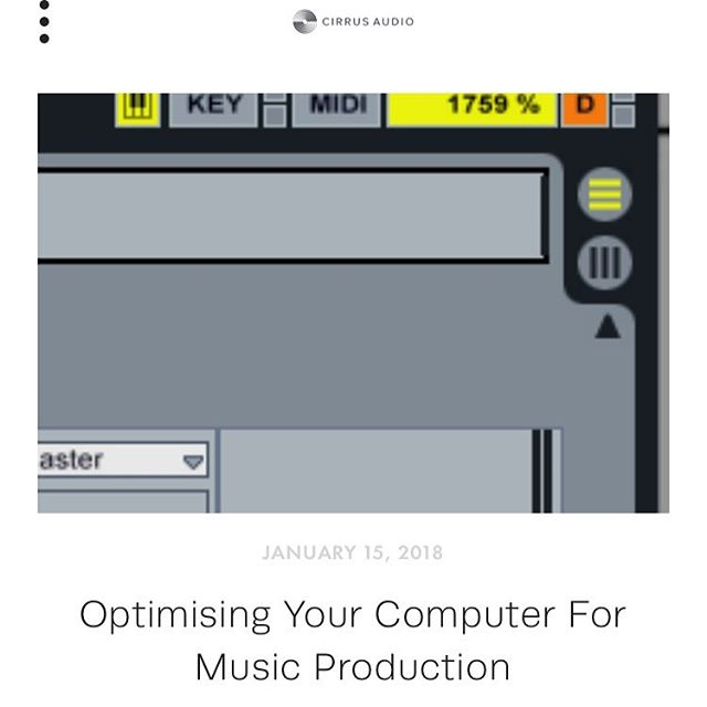 New blog post up on the website - lots of practical info for any producer or engineer working with audio!