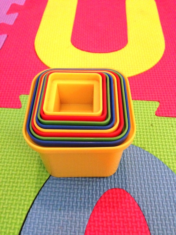 Plastic Stacking Squares 3