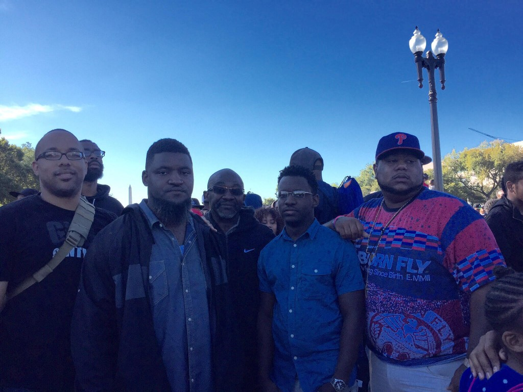 Men at 20th anniversary of million man march