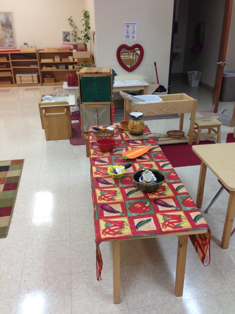 Montessori Practical Life Set Up
