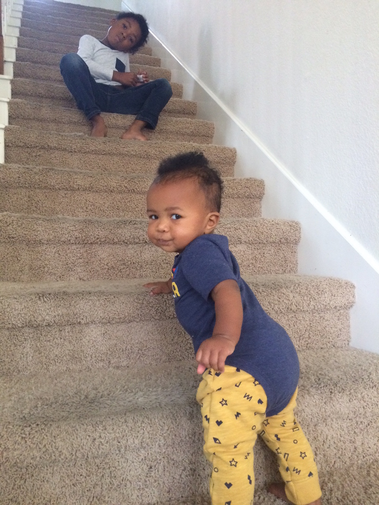 Little Miss Climbing the Stairs.JPG