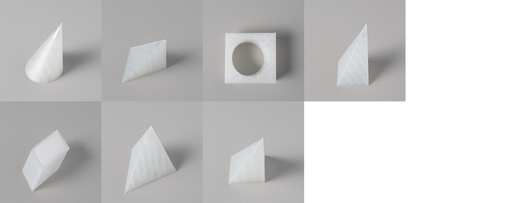 "Form study: Asymmetry Series Size: 4"" x 4""  Material: PLA"